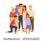 members of big happy family... | Shutterstock .eps vector #1910112622
