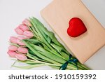 Gift Box With Red Heart....