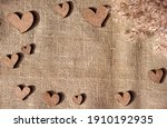 Decorative Wooden Hearts And...