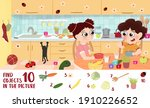 find 10 objects in the picture... | Shutterstock .eps vector #1910226652