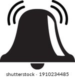 vector illustration of a bell...