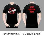 men's white t shirt design stop ... | Shutterstock .eps vector #1910261785