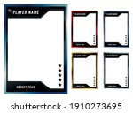 hockey player trading card... | Shutterstock .eps vector #1910273695