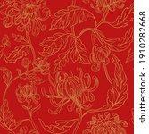 seamless floral pattern.... | Shutterstock .eps vector #1910282668