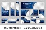 set of corporate web banner... | Shutterstock .eps vector #1910283985