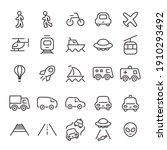 transport icon set. vector... | Shutterstock .eps vector #1910293492