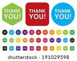 thank you button | Shutterstock . vector #191029598