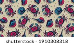 colored seamless pattern... | Shutterstock .eps vector #1910308318