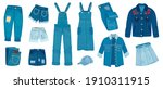 jeans clothes. ripped denim... | Shutterstock . vector #1910311915