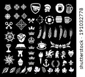 heraldic design vector elements ... | Shutterstock .eps vector #191032778