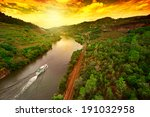 vineyards in the valley of the... | Shutterstock . vector #191032958