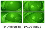 set of four abstract tennis... | Shutterstock .eps vector #1910340838