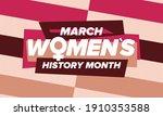 women's history month....   Shutterstock .eps vector #1910353588
