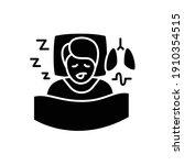 sleep study glyph icon. unusual ... | Shutterstock .eps vector #1910354515