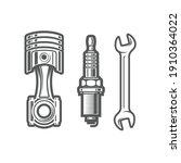 car service station sign  spark ... | Shutterstock .eps vector #1910364022