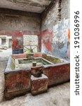 Courtyard Of A Ruined Villa At...