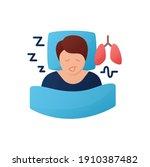 sleep study flat icon. unusual... | Shutterstock .eps vector #1910387482