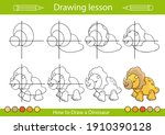 kids drawing lesson. how to... | Shutterstock .eps vector #1910390128