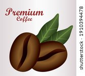 premium coffee lettering with...   Shutterstock .eps vector #1910394478
