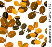botanical seamless pattern with ... | Shutterstock .eps vector #1910414692