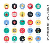 set of icons for mobile app and ...