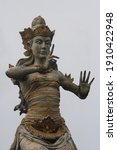 Small photo of Bali, Indonesia. Around 2020. Balinese Giant statue. Balinese tradition. Stone material statue. Balinese Cultural ancient.