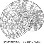 shell coloring page design... | Shutterstock .eps vector #1910427688