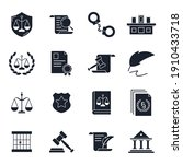 set of law and justice icon.... | Shutterstock .eps vector #1910433718
