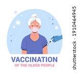 vaccination of the elderly...   Shutterstock .eps vector #1910464945