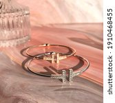 Bangle Luxury Gold Silver Gift