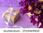 Beautiful Purple Tulips In...