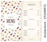 menu for restaurant  cafe  bar  ...   Shutterstock .eps vector #191048972