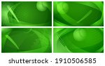 set of four backgrounds with... | Shutterstock .eps vector #1910506585