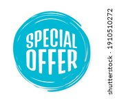 vector special offer label on a ... | Shutterstock .eps vector #1910510272