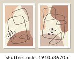 a trendy set of abstract... | Shutterstock .eps vector #1910536705