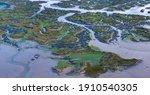 Low Tidal Marsh Landscape Of...