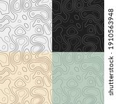 topography patterns. seamless...   Shutterstock .eps vector #1910563948