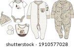 newborn clothing design set... | Shutterstock .eps vector #1910577028