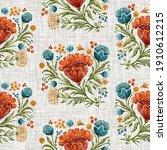 watercolor flower motif...   Shutterstock . vector #1910612215