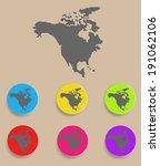 north america map   icon... | Shutterstock .eps vector #191062106