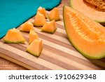 Cantaloupe Melon Cut Into Small ...