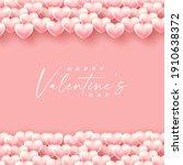 valentines day background... | Shutterstock .eps vector #1910638372