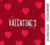 happy valentines day .... | Shutterstock .eps vector #1910638408