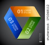 moebius origami colorful paper...   Shutterstock .eps vector #191068112
