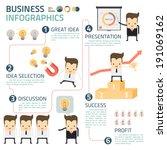 business infographics vector | Shutterstock .eps vector #191069162