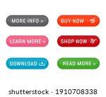 set of modern buttons for web... | Shutterstock .eps vector #1910708338