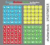 rectangle game button with...