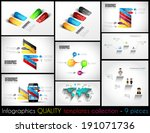 collection of 9 quality... | Shutterstock . vector #191071736