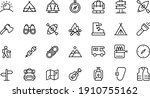 camping icons vector design...   Shutterstock .eps vector #1910755162