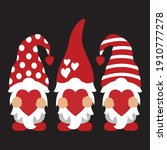 valentine gnomes t shirt design ... | Shutterstock .eps vector #1910777278